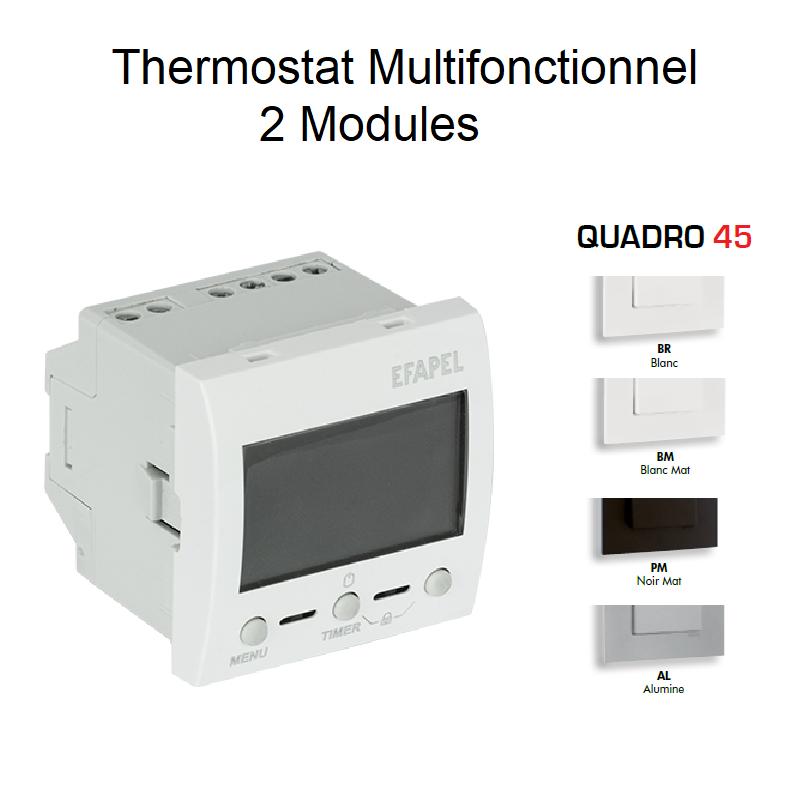 Thermostat Multifonctionnel 2 Modules - QUADRO 45