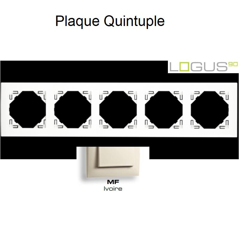 Plaque Quintuple LOGUS 90 - IVOIRE