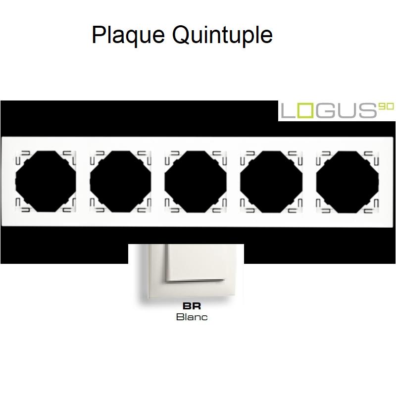 Plaque Quintuple LOGUS 90 - BLANC
