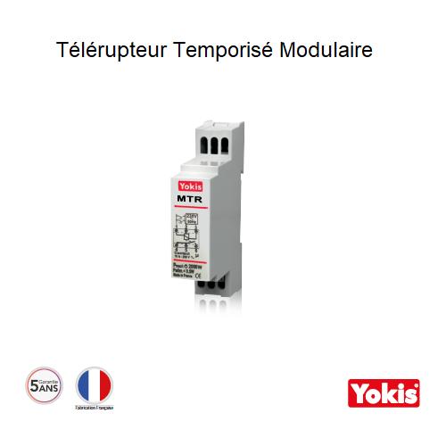 Télérupteur Temporisable 500W sans neutre Modulaire MTR500M
