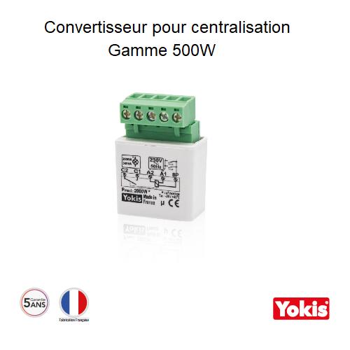 Convertisseur CVI50 pour centralisation des MTR500 avec un contact permanent