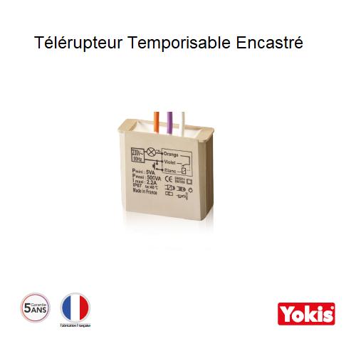 Télérupteur Temporisable 500W sans neutre Encastré MTR500E
