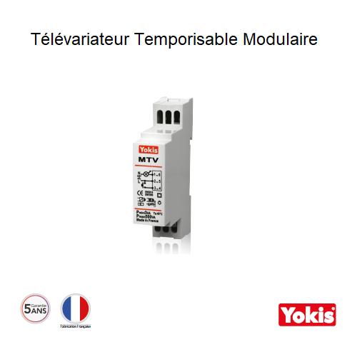 Télévariateur Temporisable 500W sans neutre MTV500M Modulaire
