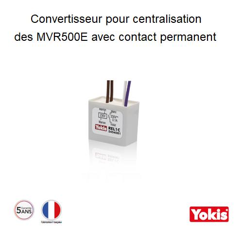 Relais bobine 230V~ contact NO 230V/0.1A - REL1C