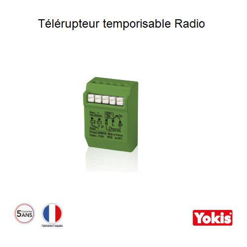 Télérupteur Temporisable 2000W Radio Encastrable MTR2000ERP