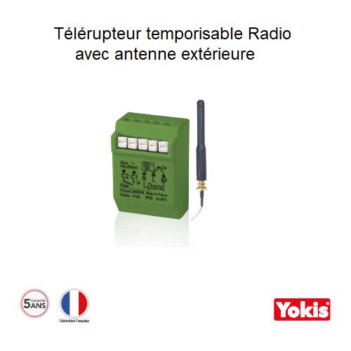 Télérupteur Temporisable 2000W Radio avec Antenne Encastrable MTR2000ERPX