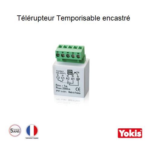 Télérupteur Temporisable 2000W avec neutre Encastré MTR2000E