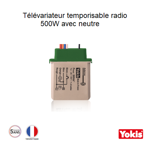 Télévariateur Temporisable 500W Radio avec neutre MTV500ERP