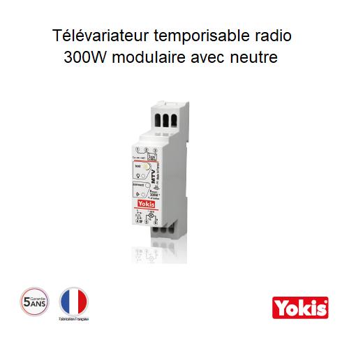 Télévariateur Temporisable 300W Radio avec neutre MTV300MRP Modulaire