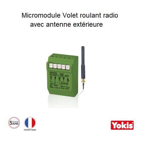 Micromodule Volet roulant 500W avec Antenne Radio MVR500ERPX Encastrable