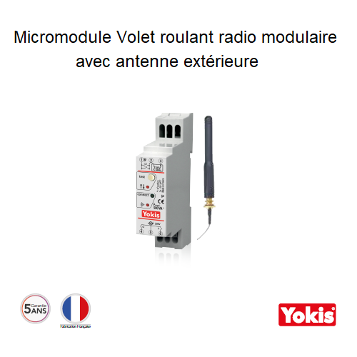 Micromodule Volet roulant 500W avec Antenne Radio MVR500MRPX Modulaire