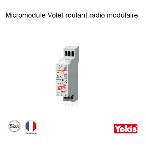 Micromodule Volet roulant 500W Radio MVR500MRP Modulaire
