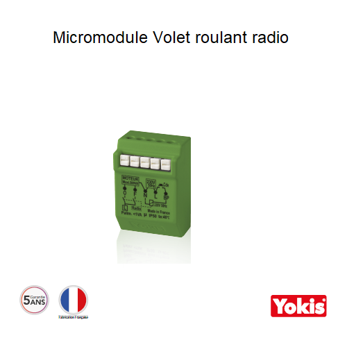 Micromodule Volet roulant 500W Radio MVR500ERP Encastrable
