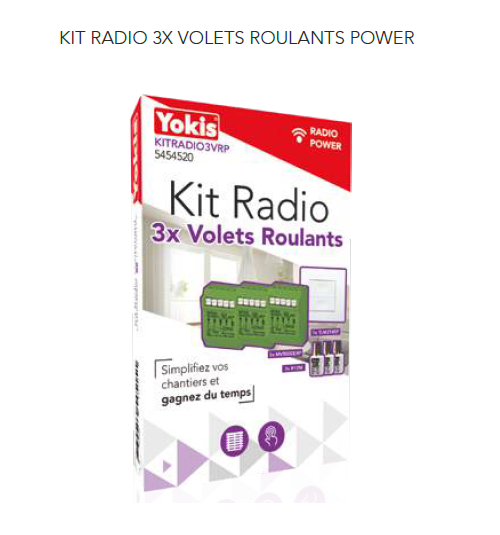 Kit Radio 3 volets roulants - KITRADIO3VRP
