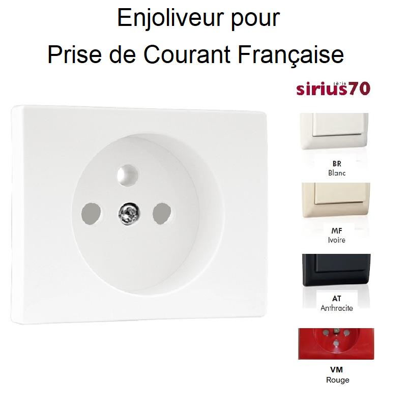 Enjoliveur pour Prise de courant 2P+T Sirius70