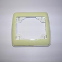 Plaque Simple Sirius70 - Blanc/Vert