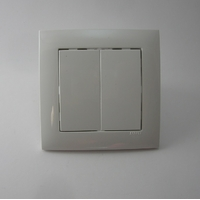 Interrupteur double blanc efapel logus90