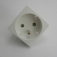 Prise de courant 2P+T Semi-Assemblée Quadro45 - Inclinée 45° - 2 Modules