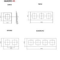 Dimensions plaques quadro45 efapel