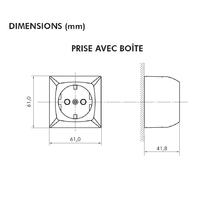 Dimensions Prise de courant série3700 efapel