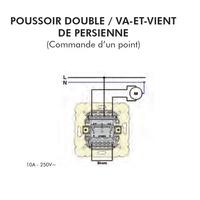 FT Poussoire double va-et-vient 1 point