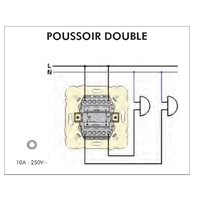 FT Poussoir Double mecanisme 21156