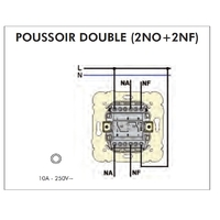 FT Poussoir double 2NO+2NF mec21154
