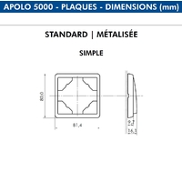 Dimensions plaque simple APOLO
