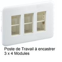 Poste de Travail à encastrer - 3 x 4 Modules