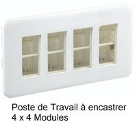 Poste de Travail à encastrer - 4 x 4 Modules