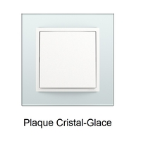 Plaque Verre LOGUS90 - Crystal/Glace