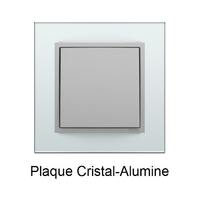 Plaque Verre LOGUS90 - Crystal/Alumine