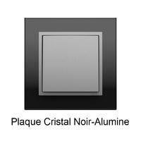 Plaque Verre LOGUS90 - Crystal Noir/Alumine