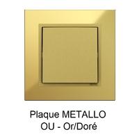 Plaque LOGUS90 METALLO - Or/Doré