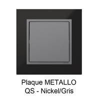 Plaque LOGUS90 METALLO - Nickel/Gris