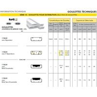 Goulotte 110x34 informations techniques