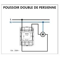 Poussoir Double de persienne 45281S Schéma de connexion