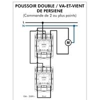 Poussoir Double va-et-vient de persienne 45283S Schéma de connexion