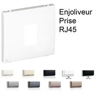 Enjoliveur pour Prise Informatique RJ45 - 1 Sortie APOLO 5000