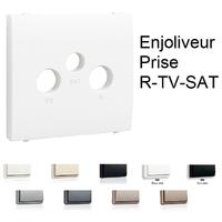 Enjoliveur pour Prise R-TV-SAT - 3 sorties APOLO5000