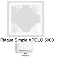 Plaque APOLO 5000 MAT - Blanc MAT