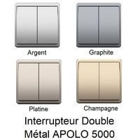 Interrupteur Double APOLO 5000 Métal
