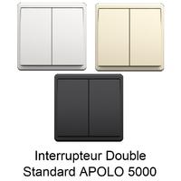 Interrupteur Double APOLO 5000 Standard