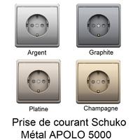 Prise de courant Schuko avec protection - APOLO 5000 Métal