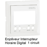 Enjoliveur interrupteur digital horaire 1 circuit Logus 90743TBR