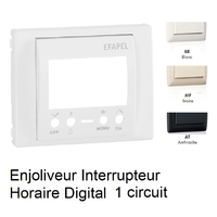 Enjoliveur Interrupteur Horaire Digital 1 circuit - Sirius70