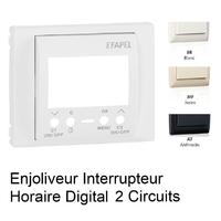 Enjoliveur Interrupteur Horaire Digital 2 circuits - Sirius70