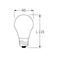 Ampoule LED A60 dimensions