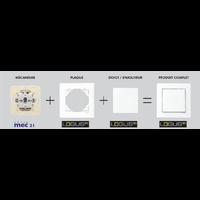Principe de montage éléments prise et interrupteur EFAPEL série mec21