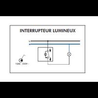 Schéma de montage Interrupteur Lumineux EFAPEL série 3700